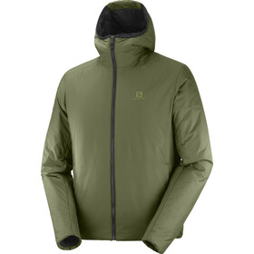 Salomon Outrack Insulated Hoodie Herren olive night